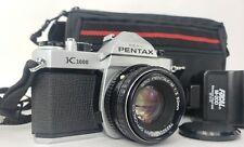 Asahi Pentax K1000 Camera with 50mm lens M-200 Flash & Carrying case