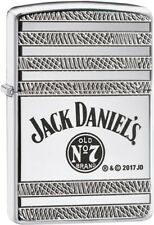 Zippo Choice Armor Jack Daniels WindProof Lighter High Polish Chrome 29526 New