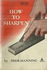 How to Sharpen Behr-Manning Norton Abrasives 1950