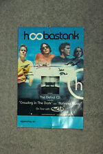 SIGNED double-sized Hoobastank poster