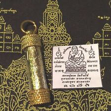 LP Thuad Takrut Thai Amulet Protection Defense Sacred Yant Luck Rich Wealth New!
