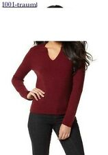 Pullover Pulli Marie Claire rot bordeaux Gr. 32/34 36/38 40/42 NEU