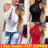 Sexy Women's Sleeveless Slim Summer Vest Tops Lace Up Casual Tank Tops T Shirt
