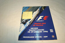 Michael Schumacher Autographed Formula 1 French GP Program, 5 More Autographs.