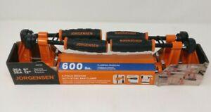 """NEW Jorgensen 4-Pack Assorted Bar Clamp 2 x 6"""" & 2 x 12"""" 600lbs Medium Duty"""