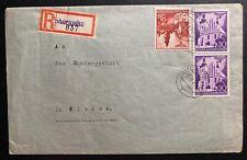 1941 Skatzysko GEneral Government Poland Germany Registered Cover To Kielce