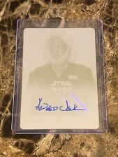 Topps Star Wars Force Awakens Ser. 2 Andrew Jack Autograph Printing Plate #1/1