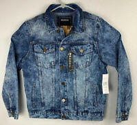 Reason Clothing Denim Jean Jacket Blue Mens M Medium NWT $120