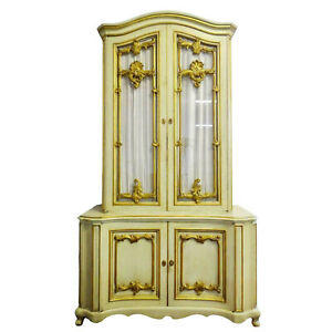 Cabinet, Bar, Provincial Style, Louis XV Style, Gilt, Paint Decorated, Vintage!!