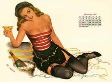 January 1950 Pinup calendar from Esquire  8 x 10 Giclee-Iris print