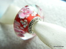NEW! AUTHENTIC PANDORA CHARM MURANO GLASS FLOWER GARDEN #791652  P