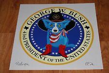 George Rodrigue Blue Dog 43rd President Of The United States George W Bush White