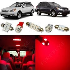 14x Red LED interior lights package kit for 2010-2014 Subaru Outback + Tool SO1R