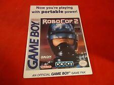 Robocop 2 Nintendo Game Boy Vidpro Promotional Display Card ONLY