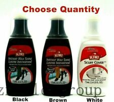 Kiwi High Gloss Shine Instant Liquid Shoe Polish 73ml /2.5 oz Black/ Brown/White