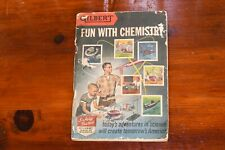 Gilbert Hall of Science Fun With Chemistry Instruction Book Vtg Lab Set 1956