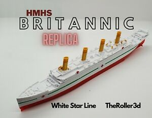 HMHS Britannic Model, Highly Detailed Replica 1 Foot in Length