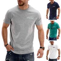 Jack & Jones Herren T-Shirt Basic Top Shirt Kurzarmshirt Unifarben O Neck SALE