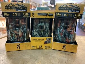 2 Browning Strike Force Explorer 18MP Trail Cameras with Command Ops Pro