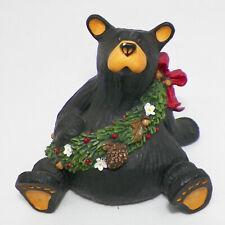 Bearfoot Bears Aretha Black Bear Figurine w/Wreath