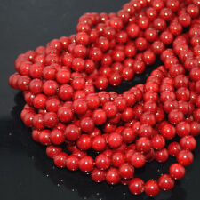 """Wholesale Natural Coral Gemstone Round Spacer Beads 16"""" 2,3,4,5,6,7,8mm"""