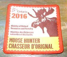 2016 ONTARIO MNR MOOSE HUNTING PATCH badge,flash,crest,deer,bear,elk,Canadian