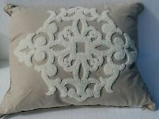 Waterford Linens Natural Decorative Pillow 16 x 20- Brown