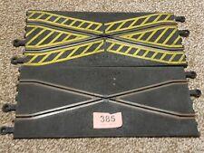 Scalextric clásico cruce de pista recta (par) 385 rieles oxidados