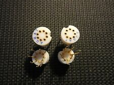 4PCS 8PIN TRANSISTOR SOCKET GOLD PREPPED LEADS