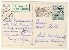ÖSTERREICH - WEIHNACHTSKARTE aus KARPFENBERG 1959 über CHRISTKINDL in die DDR
