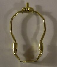 "4"" TALL BRASS PLATED MINIATURE LAMP HARP LAMP PART NEW 54005J"