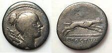 Roman Republic: C. Postumius silver denarius - Diana / Hound - AR coin 74 BC