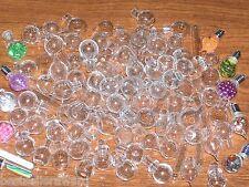 100 Lot Glass Big Mix bottles * vials charms pendants *