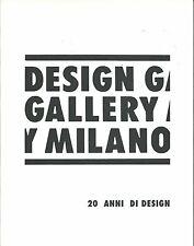 CAMARD ITALIAN DESIGN GALLERY MILANO Branzi Grawunder Jean Sottsass Catalog 2010