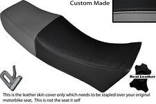 Gris Y Negro Custom encaja Moto Guzzi Le Mans 1000 / doble Piel cubierta de asiento