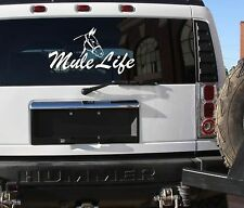 Mule life sticker farm donkey horse 12x24 pull draft mule decal
