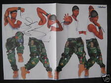 Usher Autogramm signed 28x42 cm Poster gefaltet