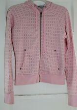 Self Esteem Juniors Hoodie Jacket Zip Front Sz M Pink with Hearts