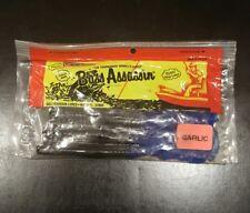 """Bass Assassin 8"""" Worm 15 pkg Black/Blue Tail 12200"""