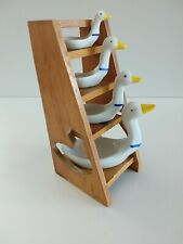 More details for vintage avon ceramic goose measuring spoons and stand