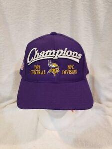 VINTAGE Minnesota Vikings Purple Adult One Size 1998 Div Champs Hat, NEW&NICE!