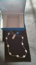 """Joia De Majorca Sterling Silver Chain and Barrel Baroque Pearl Stations 18"""""""