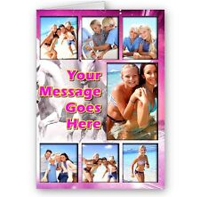 Personalised Collage Photos & Message A5 Birthday, All Occasion Horse Theme Card