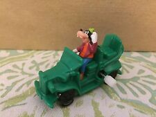 Vintage Disney 1993 Toon Town Goofey Wind Up Green Car Burger King Toy