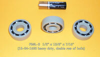 1 pair Plastic Bearings Delrin with 316ss balls & Polypropylene with glass balls