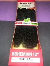 "SAGA NAKED BOHEMIAN BRAZILIAN VIRGIN REMY_100% HUMAN HAIR_12""_#NATURAL*"