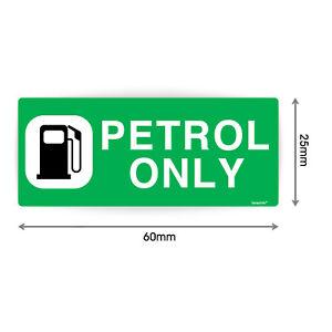 PETROL ONLY Sign  Waterproof Vinyl Stickers Car Petrol Cap Van Lorry V1152