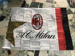 1 bandiera ufficiale Ac Milan 140x100 cm Rossoneri official flag Bianca
