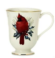 Lenox Winter Greetings Holiday Cardinal Bird Catherine McClung Carved Footed Mug