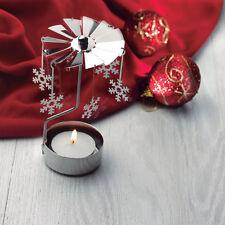 Bougie Carousel Rotary Tea Light Holder Cadeau de Noël Charms Spinning Candle